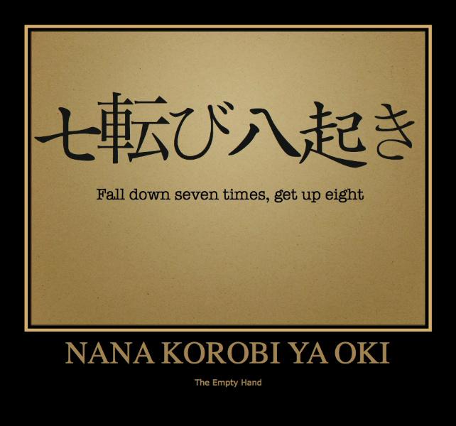 Cadi sette volte, rialzati otto: Nana korobi ya oki