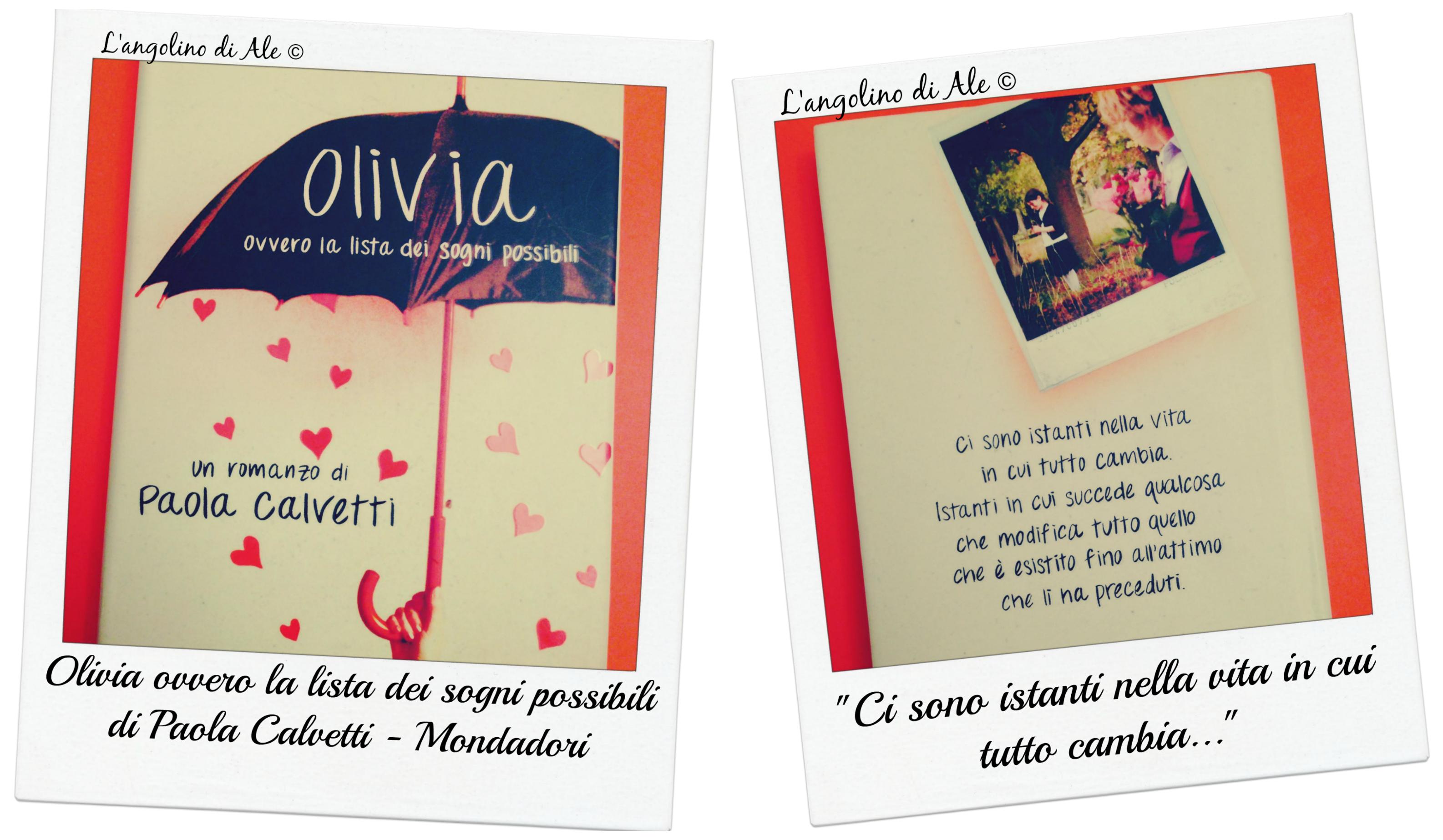 Olivia ovvero la lista dei sogni possibili di Paola Calvetti - L'angolino di Ale