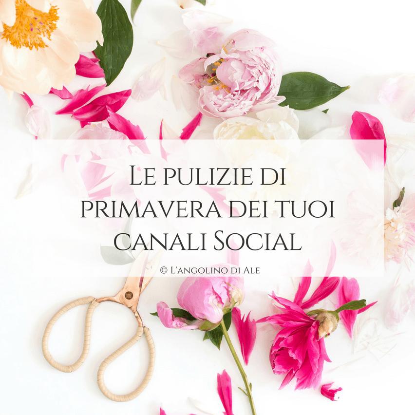 Le pulizie di primavera dei tuoi canali Social
