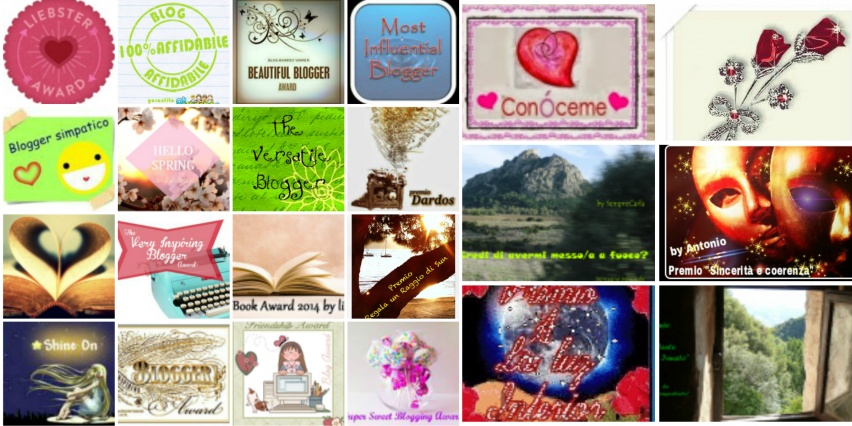 Awards collage - L'angolino di Ale
