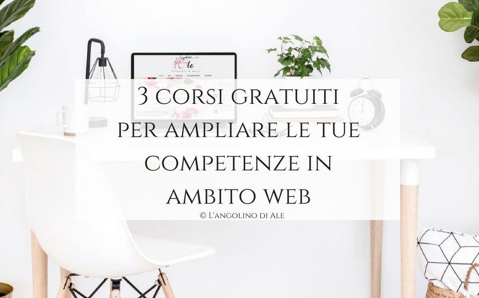 3 corsi gratuiti per ampliare le tue competenze in ambito web ©LangolinodiAle